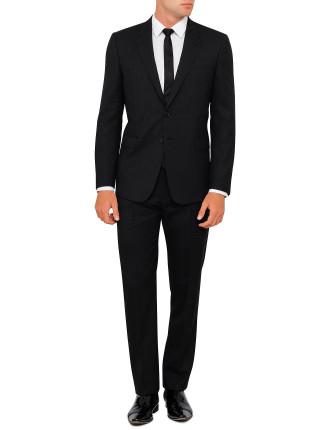 Wool Plain Travel Suit
