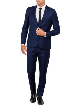 Wool Sharkskin Plain Suit