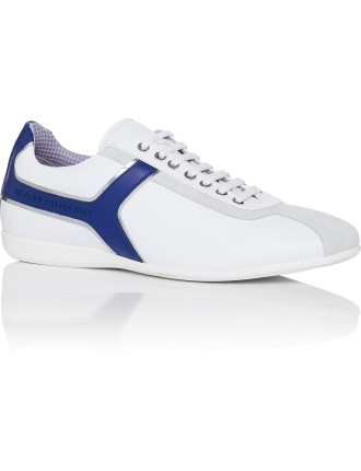 Nappa Leather Blue Insert Lace Sneaker