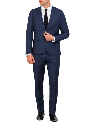 Wool Shark Wind Check Suit