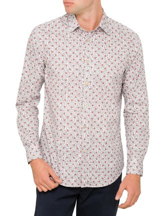 Cotton Leaf Floral Print Shirt