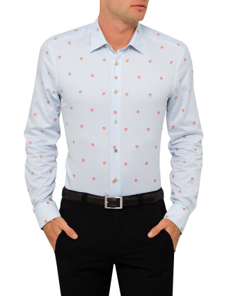 Cotton Grapefruit Jaquard Shirt