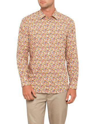 Rainbow Floral Print Shirt