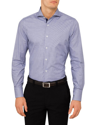 CONTRAST TRIM SINGLE CUFF SHIRT