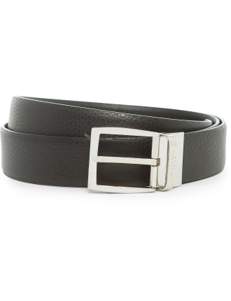 LEATHER TEXTURED REVERSIBLE BELT