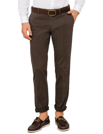 FL FR COTTON/ELAST PLAIN TROUSER