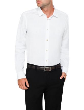 Cotton Sun Jacquard Single Cuff Shirt