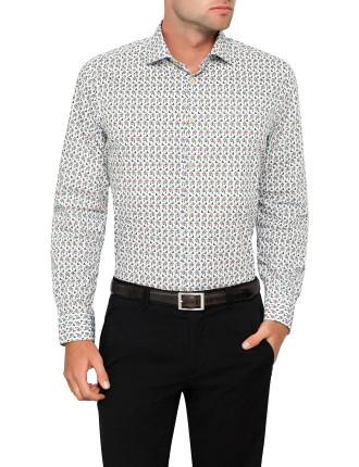 Botanical Print Single Cuff Shirt