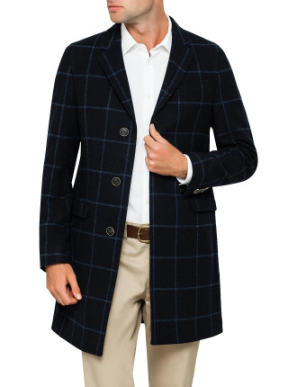 WINDOWPANE CHECK OVERCOAT