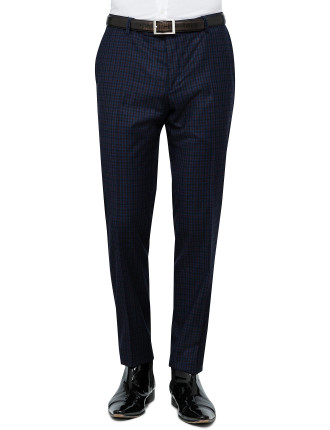 WOOL PLAID CHECK TROUSER