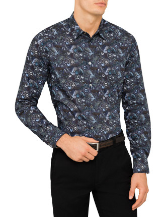 Zodiac Print Single Cuff Shirt