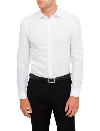 Jaquard Tonal Single Cuff Shirt