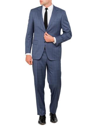 Wool Tonal Window Pane Suit