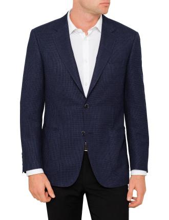 Wool Mix Textured Jacket