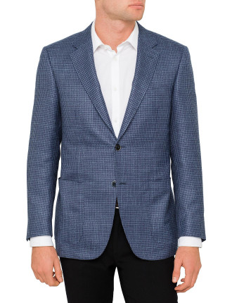 Wool Mix Houndstooth Jacket