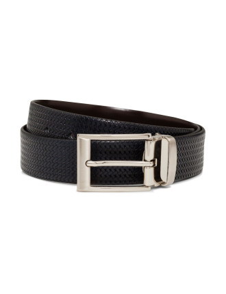 Textured Plait Reversible Belt
