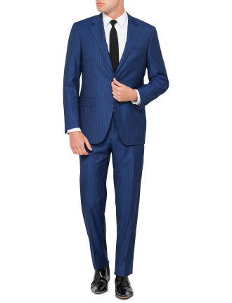 Wool Tonal Stripe Suit