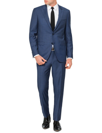 Wool Pinspot Peak Suit