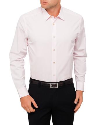 Cotton Poplin Plain Shirt
