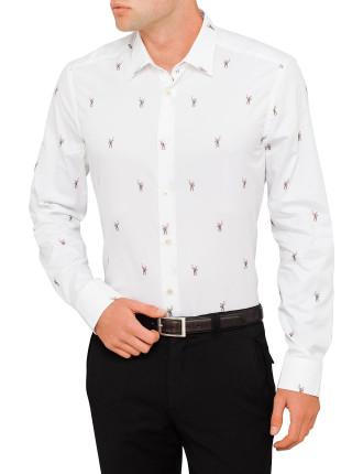 Cotton Monkey Jaquard Shirt