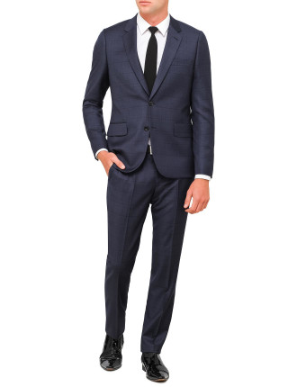 Wool Window Check Suit