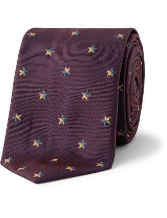 6 Cm Small Star Silk Tie