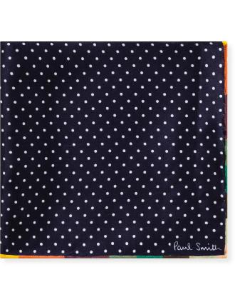 Small Spot Silk Pocket Square