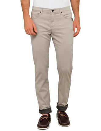Sueded Twill 5 Pocket Slim Jean