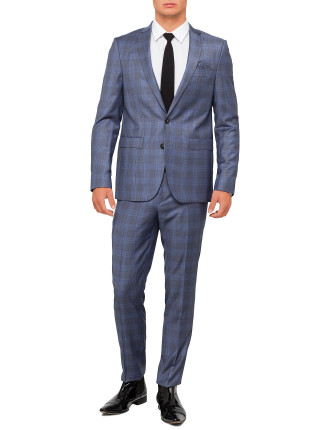 Wool Shark Check Suit
