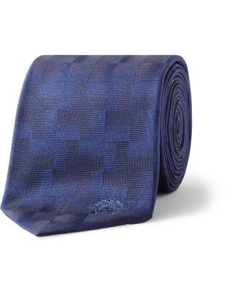Checkerboard Silk Tie