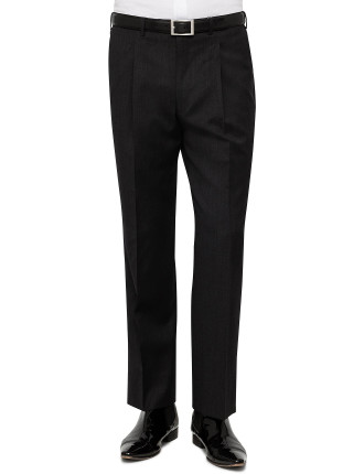 1 Pleat Wool Serge Plain Trouser