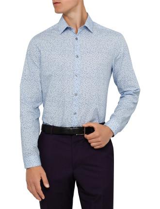 Spot Print Dress Shirt