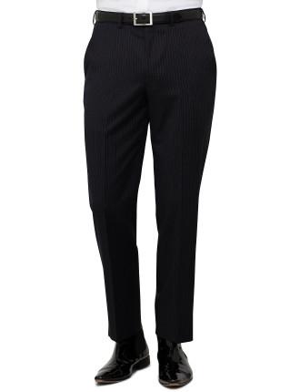 Flat Front Wool Stripe Trouser