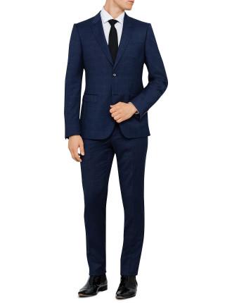 Wool Text Peak Suit