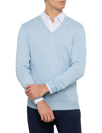 Plain V Neck Sweater