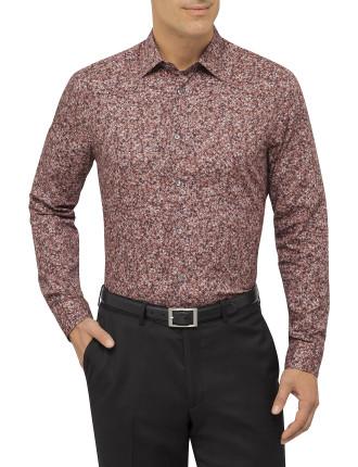 Long Sleeve Rose Print Shirt