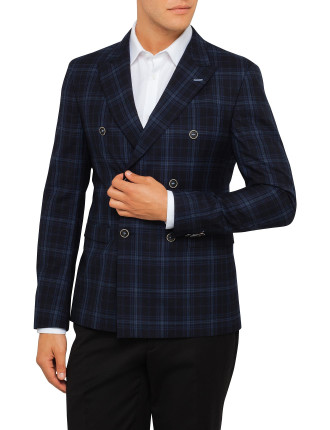 6724 Ringo Double Breasted Check Jacket