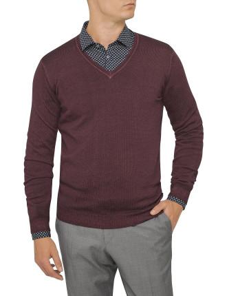 Merino Freddo V Neck Sweater