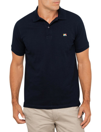 698P Cotton Pique Flag Logo Polo