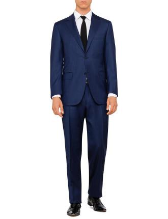 L23280 Wool/Silk Herringbone Suit