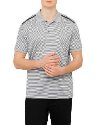 Cotton Hori Stripe Cont Trim Polo