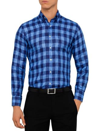 L702 Linen Gingham Shirt