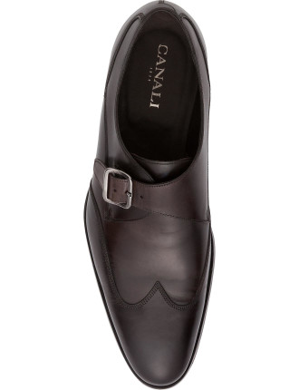 Leather Single Monk Buckle Dress Shoe