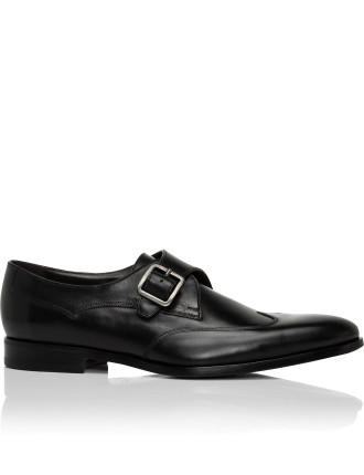 Leather Single Monk Buckle Dress Shoe