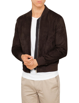 700P Suede Nappa Bomber Jacket