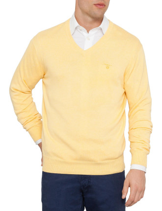 Light Weight Cotton V-Neck Knit