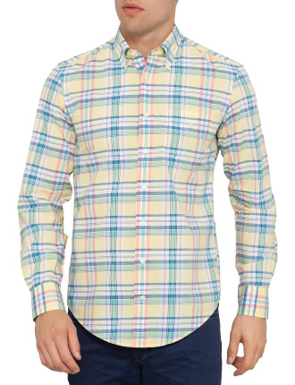 P.N.Nantucket Poplin Check Buttondown Shirt