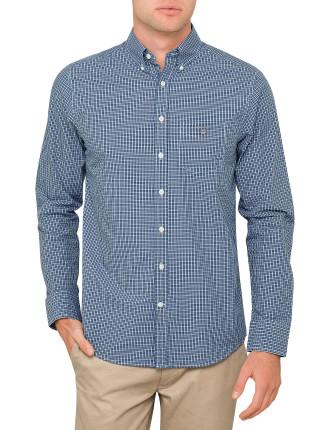 Indigo Gingham Shirt