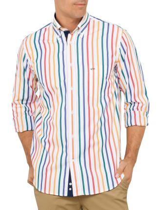 Multi Stripe Competition Button Down Shirt