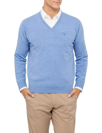 Light Weight Lambswool V-Neck Knit